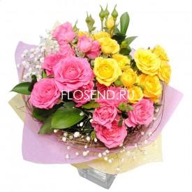 Букет небольшой из кустовых роз